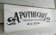 Apothecary Sign Plaque Medicine Home Decor Wall MADE TO ORDER Paris French