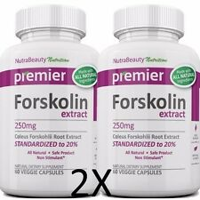 2X FORSKOLIN EXTRACT 100% PURE COLEUS FORSKOHLII Weight Loss 20% STANDARDIZED