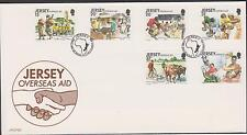 GB - JERSEY 1991 Overseas Aid SG 558-563 FDC ANIMALS COWS HEALTH EDUCATION