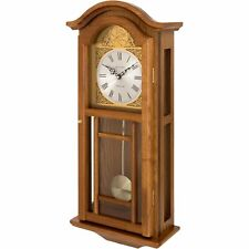 Fox and Simpson Oak Coloured Wood Penulum Wall Clock With Westminster Chimes