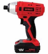 AMTECH 18V IMPACT DRIVER DRILL CORDLESS WITH CASE + FAST CHARGING