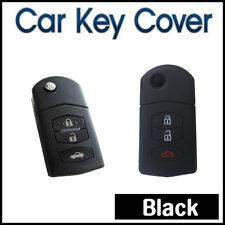 CAR SMART KEY COVER SILICONE Fits MAZDA 3 2 6 MPS SP25 CX5 CX7 CX9 3BUTTON-BLACK