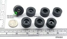 """4 Large Rubber Bumpers With Embedded Washers Feet 1"""" Diameter 1/2"""" High"""