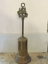 """Vintage Brass Ship """"The Victory"""" Handle Retractable Fireside Hearth Brush 12"""""""