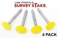 Low Profile Survey Stake - Hi-Vis Yellow - 4 Pack
