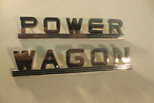 1946 1947 1948 1949 1950 1951 1952 1953 1954 Dodge Power Wagon Chrome Emblems