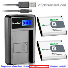 Kastar Battery LCD USB Charger for Sony NP-BK1 NPBK1 & Sony Cyber-shot DSC-W370