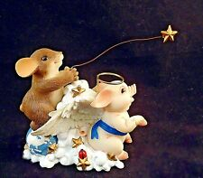 Fritz and Floyd Charming Tails Hog Heaven Dean Griff 2004 signed New In Box! -j4