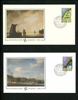 Postal History Netherlands FDC #679-680 SET OF 2 Europa environment gardens 1986