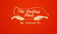 CATFISH PLACE small orange T shirt St Cloud FLORIDA restaurant water-skiing 2002