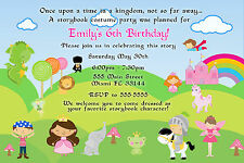 30 Birthday Party Invitation Storybook Pirate Princess Fairy Superhero Kids A1