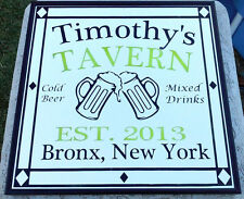 """Pub and Bar Mirror Engraved Personalized 16"""" x 16"""""""