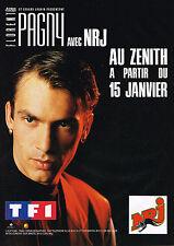 PUBLICITE ADVERTISING  1991   NRJ radio  FLORENT PAGNY en concert  au ZENITH
