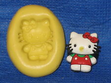 Kitty Character Silicone Push Mold Resin Gumpaste #435 Cup Cake Decoration