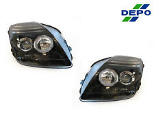DEPO 97-01 HONDA PRELUDE JDM BLACK HOUSING PROJECTOR HEADLIGHTS DOT/SAE NEW PAIR