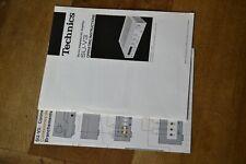GENUINE Technics SU-V3 AMPLIFIER Operating Instruction USER MANUAL