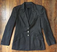 ESCADA LUXURY Gray Wool Designer Womens Jacket Button Blazer Lined Sz 38 M US 8