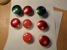 Lot of 8: Push Button Mushroom Heads Jumbo, with set screws Red and Green