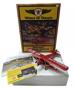 Wings Of Texaco 1929 Curtiss Robin Airplane (#6) Die-Cast Metal Coin Bank