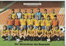 Mannschaftskarte - Eintracht Braunschweig - 1981/1982