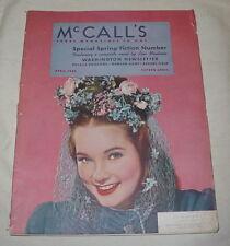 MCCALLS MAGAZINE APRIL 1942 WASHINGTON NEWSLETTER LOIS MONTROSS MOVIE REVIEW