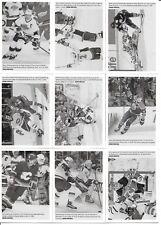U PICK'EM LOT 2015-16 15-16 UD Portfolio Wire Photo SP Hockey card set #251-270