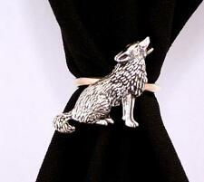 Wolf Scarf Ring, English Pewter, Handmade in Great Britain (ab)