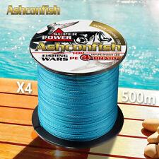 Fuerte multifilamento trenzado pesca línea de polietileno 500M 4 Hilos Japonesa Cable de línea