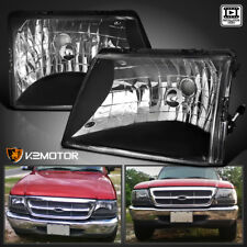 Euro Black 98-00 Ford Ranger Crystal Headlights Head Lamps