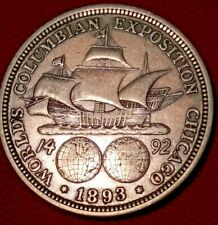 New Listing1893 World's Columbian Exposition Commemorative Half Dollar 90% Silver 50c Coin