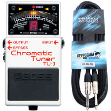 Boss TU-3 Chromatic Tuner + Plug Cable