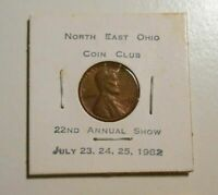 1982 Southern Idaho Coin Club Show with UNC 1958D Lincoln cent