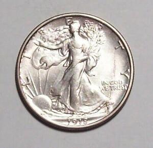 1918-P  WALKING LIBERTY HALF DOLLAR  Old Cleaning AU   #8C55