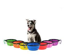 Silicone Pet Cachorro Gato Alimentação Tigela Prato de água Viagem alimentador Portátil Desmontável