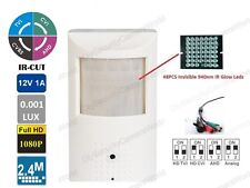 1080p 2.4MP HD-CVI/TVI/AHD/CCTV Hidden Motion Detector IR Camera BNC