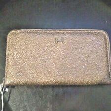 New Halston Madeline Blush Crinkle RFID Wallet Zip Around