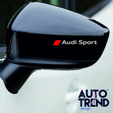 4 X AUDI SPORT MIRROR  Decal Sticker Detail-Best Quality-Many Colours 2w