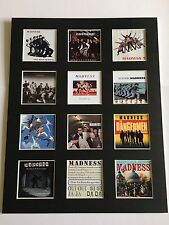 "MADNESS DISCOGRAPHY 14"" BY 11"" LP COVERS PICTURE MOUNTED READY TO FRAME SKA"