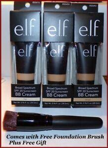 NIB  Elf BB Cream Make Up SPF 20  FAIR  BUFF  BEIGE ~ FREE SHIP + FREE GIFT