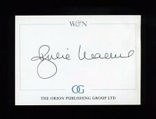Julie Walters - original SIGNED Bookplate