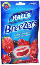 Halls Breezers Drops Cool Berry 25 Each (Pack of 3)