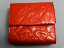 WOW!!! US SELLER Authentic CHANEL WALLET ORANGE PATENT LEATHER LOGO ICON