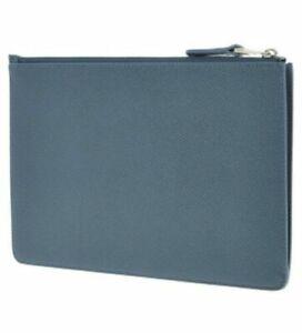 DUNHILL Cornflower Blue Zip Pouch RRP £225