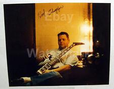 Rod Schoepfer Signed Photo & Business Cards Bon Jovi Sambora Guitar Luthier RARE