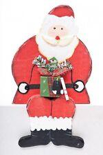 Kantenhocker Nikolaus Weihnachtsmann aus Holz beidseitig handgemalt im 3er Set