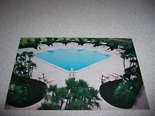 1970s SHELL POOL at HOLIDAY INN TAMPA FLORIDA FL. VTG POSTCARD