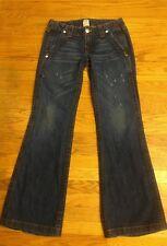 True Religion Sammy Bootcut Flare Distressed Jeans 27 EUC