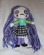"""Ooak Goth Punk Cloth Rag Doll Turddemon Allyson Gutchell Handmade 11.5"""" Purple"""