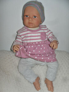 Traumdolls Doro Dolls Babypuppe Nora  52 cm mit Schnuller Spielpuppe  NEU