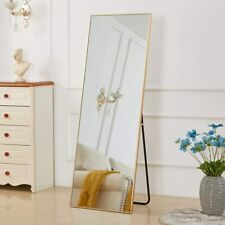 Gold Full Length Mirror Bedroom Floor Mirror Standing Hanging Large Wall Mirror
